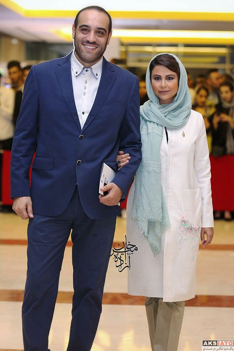 بازیگران بازیگران زن ایرانی جشن حافظ  یاسمینا باهر و همسرش در هجدهمین جشن حافظ ۹۷ (2۴ عکس)