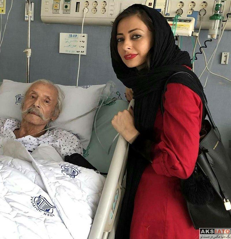 بازیگران بازیگران زن ایرانی  عیادت نفیسه روشن از جمشید مشایخی (2 عکس)