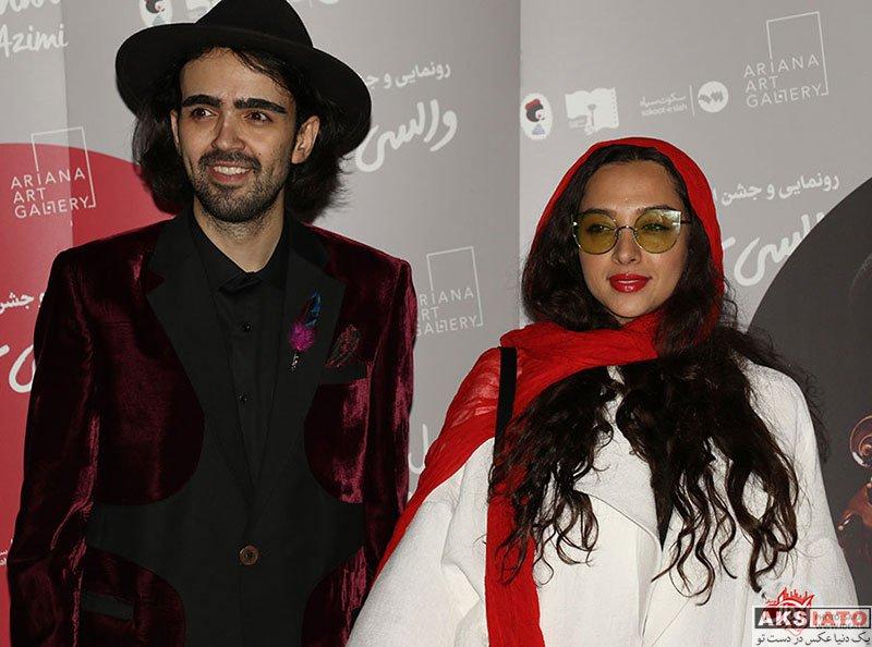 بازیگران بازیگران زن ایرانی  آناهیتا درگاهی در مراسم رونمایی از آلبوم امیر عظیمی (3 عکس)