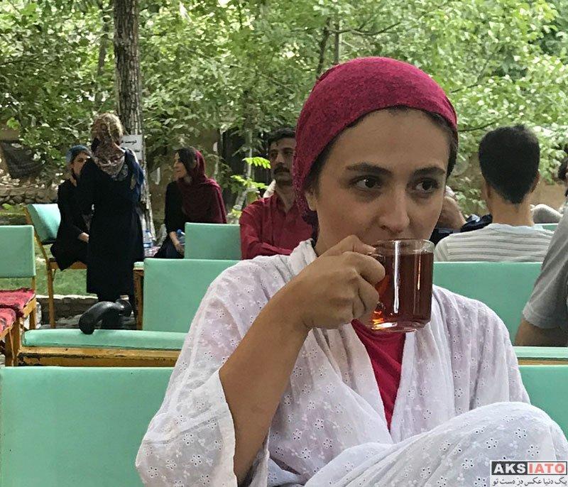 بازیگران بازیگران زن ایرانی  عکس های گلاره عباسی در شهریور ماه 97 (8 تصویر)