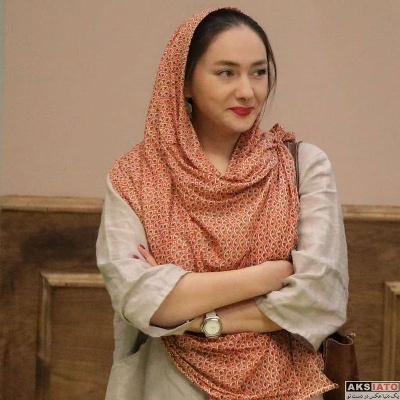 بازیگران بازیگران زن ایرانی  هانیه توسلی در مراسم رونمایی از کتاب صابر ابر (3 عکس)