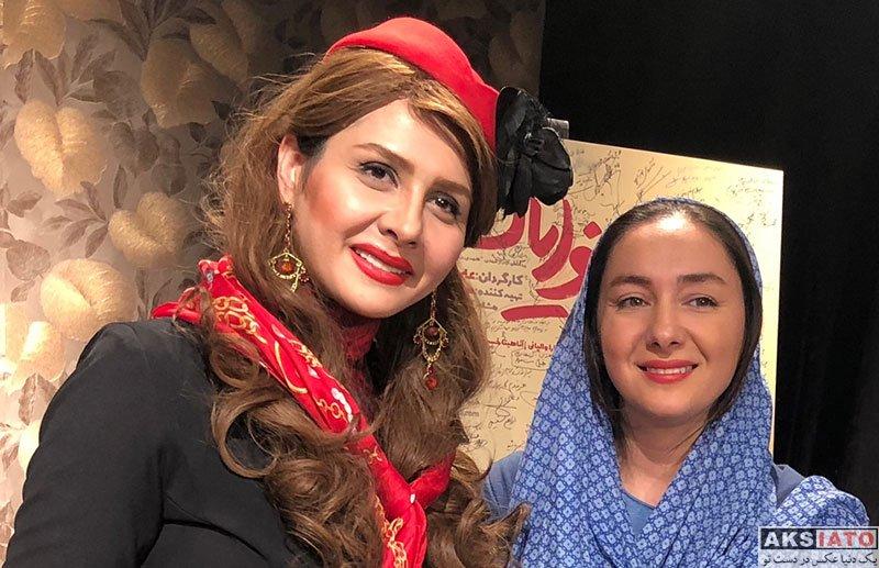 بازیگران بازیگران زن ایرانی  هانیه توسلی در اجرای نمایش بانوایان (۴ عکس)
