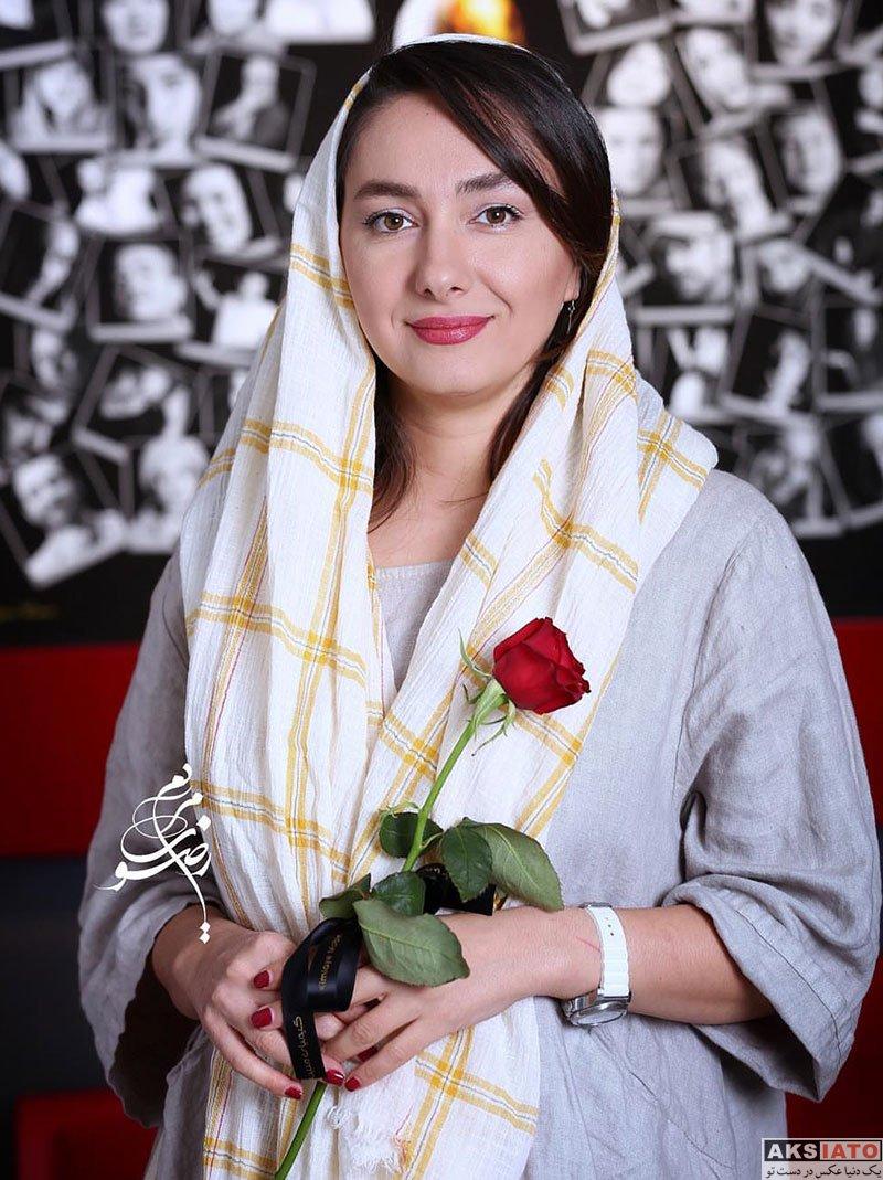 بازیگران بازیگران زن ایرانی  هانیه توسلی در افتتاحیه نمایشگاه عکس پیام ایرائی (3 عکس)