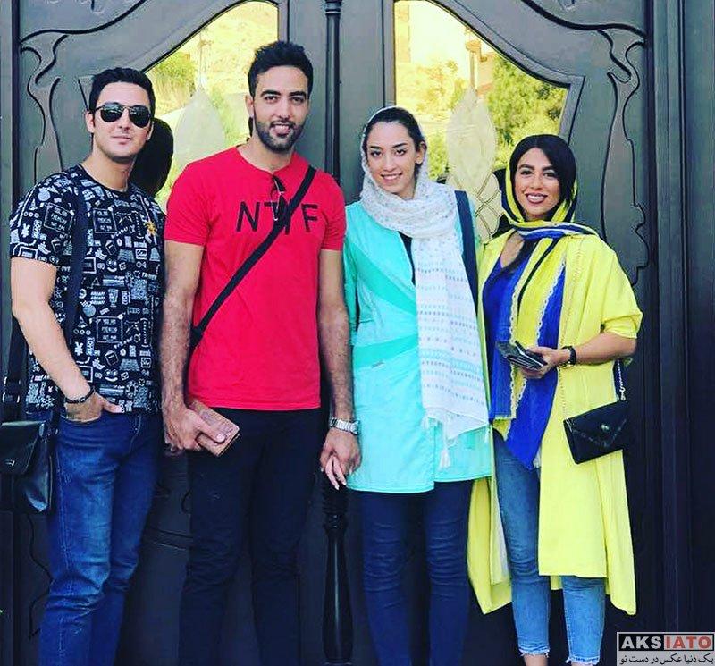 خانوادگی ورزشکاران  کیمیا علیزاده و همسرش در کنار دوستانشان (3 عکس)