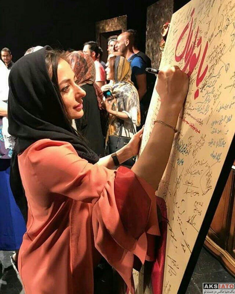 بازیگران بازیگران زن ایرانی  نفیسه روشن در اجرای نمایش بانوایان (4 عکس)