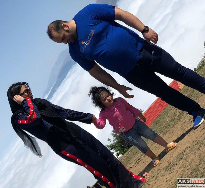 ورزشکاران ورزشکاران مرد  بهداد سلیمی و همسرش در فیلبند مازندران (3 عکس)
