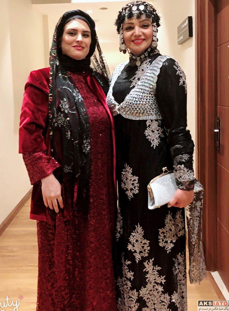 بازیگران بازیگران زن ایرانی  الهام پاوه نژاد با لباس کردی در کنسرت کامکارها (6 عکس)