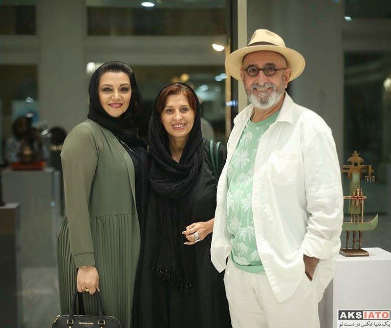 بازیگران بازیگران زن ایرانی  الهام پاوه نژاد در افتتاحیه نمایشگاه طراحان داخلی (2 عکس)