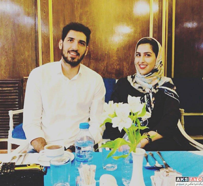 ورزشکاران ورزشکاران مرد  عک محمدجواد معنوی نژاد در کنار خواهرش