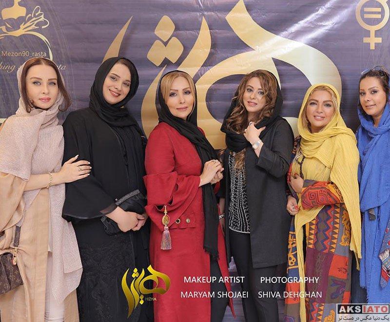 بازیگران بازیگران زن ایرانی  روشنک عجمیان در سالن زیبایی هیژا (4 عکس)