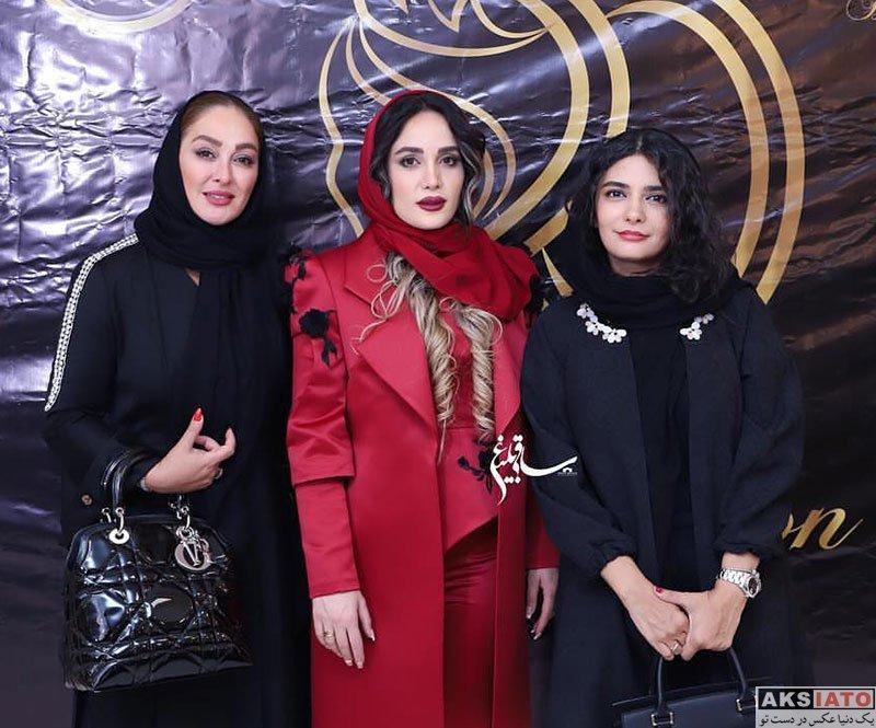 بازیگران بازیگران زن ایرانی  الهام حمیدی در مراسم افتتاح سالن زیبایی در قم (3 عکس)
