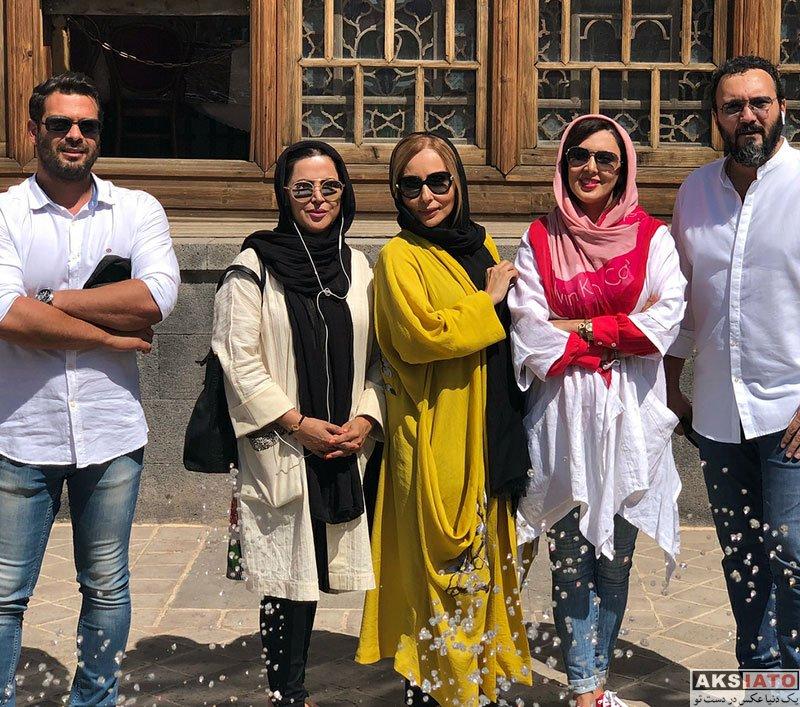 بازیگران بازیگران زن ایرانی  لیلا بلوکات و جمعی از بازیگران در اردبیل (4 عکس)