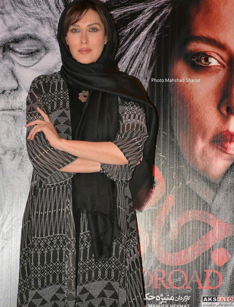 بازیگران بازیگران زن ایرانی  مهتاب کرامتی در اکران مردمی فیلم جاده قدیم (8 عکس)