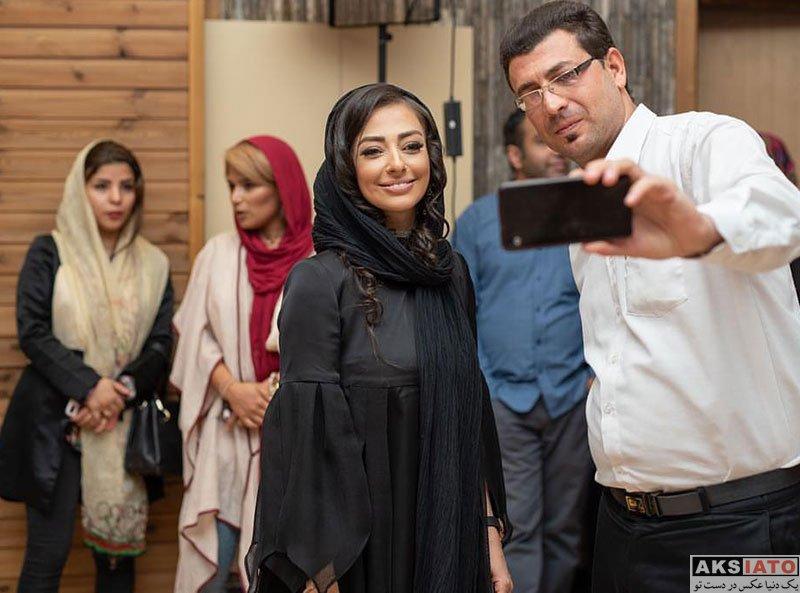 بازیگران بازیگران زن ایرانی  نفیسه روشن در اولین اکران مردمی فیلم لازانیا (8 عکس)