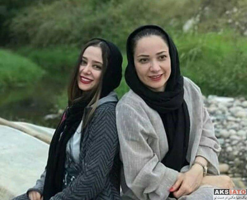بازیگران بازیگران زن ایرانی  گردش و تفریح الناز حبیبی و نسرین نصرتی در شمال (3 عکس)