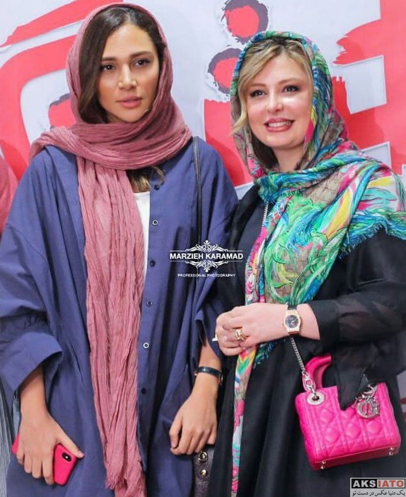 بازیگران بازیگران زن ایرانی  نیوشا ضیغمی در اکران خصوصی فیلم هشتگ (10 عکس)