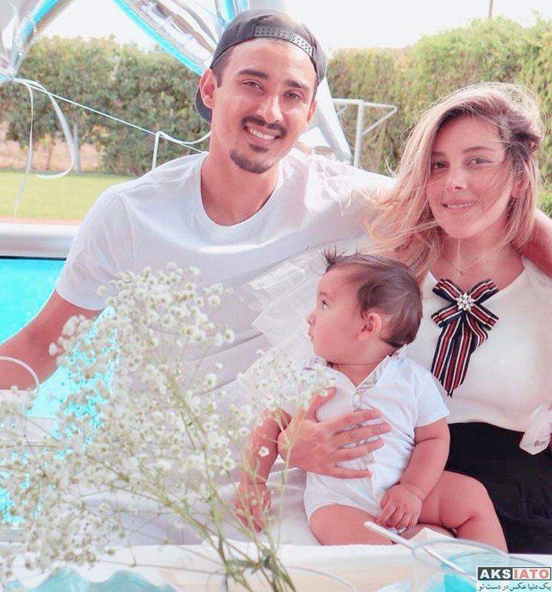 ورزشکاران ورزشکاران مرد  تولد 31 سالگی رضا قوچان نژاد در کنار همسر و پسرش (2 عکس)