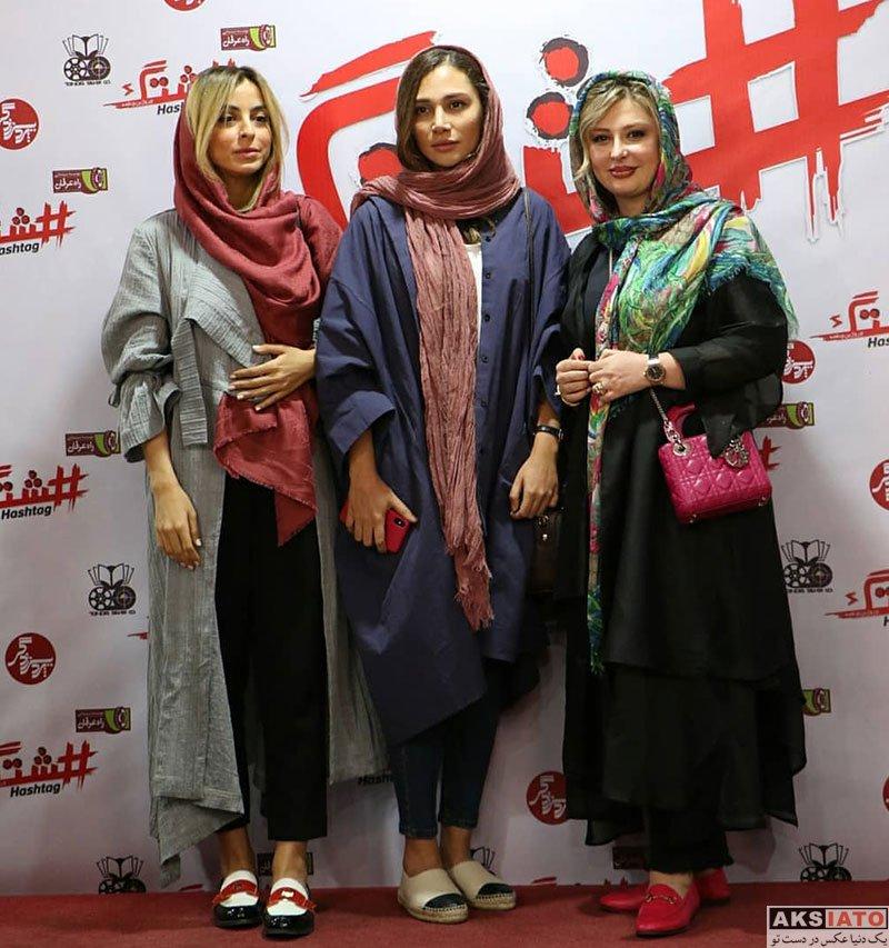 بازیگران بازیگران زن ایرانی  روشا ضیغمی در اکران خصوصی فیلم هشتگ (4 عکس)
