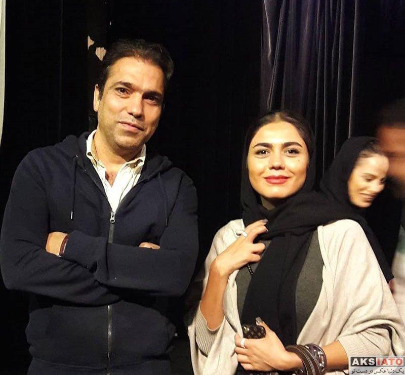 بازیگران بازیگران زن ایرانی  آزاده زارعی در اجرای نمایش مزا مزا (4 عکس)