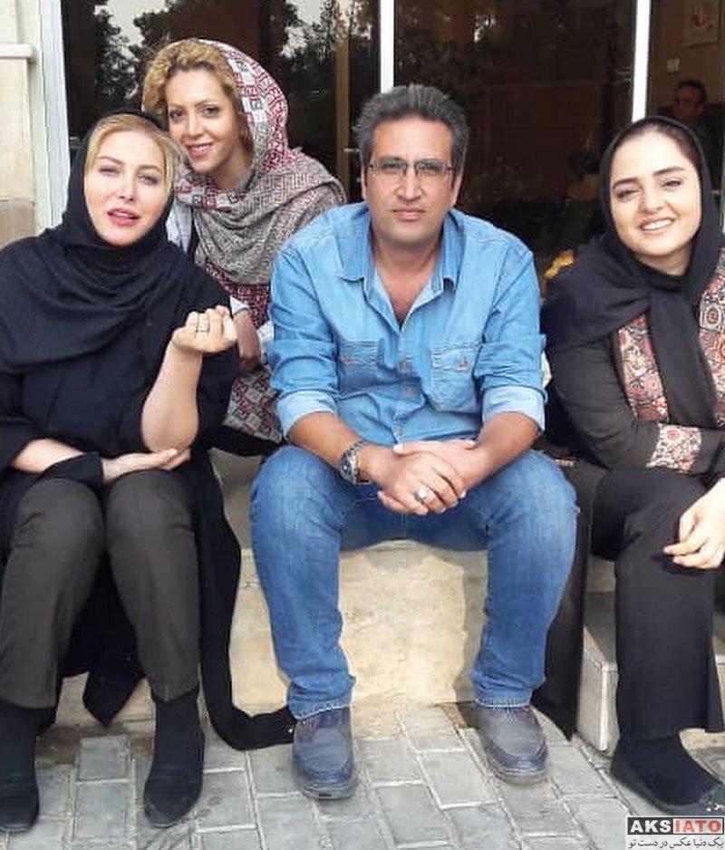 بازیگران بازیگران زن ایرانی  فریبا نادری در پشت صحنه سریال ستایش 3 (4 عکس)