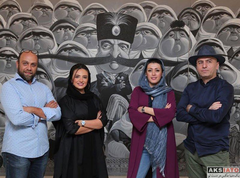 بازیگران بازیگران زن ایرانی  گلاره عباسی در نمایشگاه نقاشی بزرگمهر حسین پور (2 عکس)