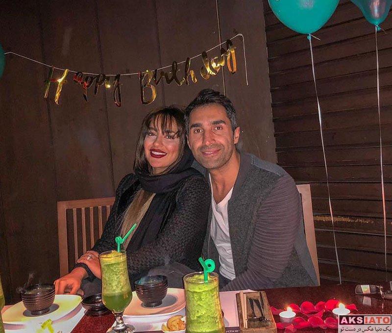 بازیگران بازیگران مرد ایرانی جشن تولد ها  هادی کاظمی و همسرش سمانه پاکدل در جشن تولدش (2 عکس)