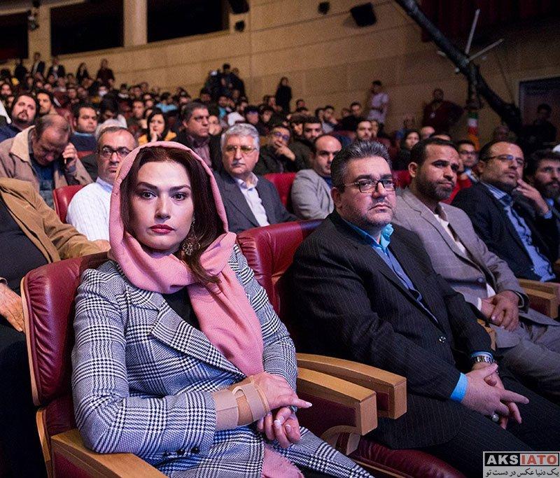 بازیگران بازیگران زن ایرانی  لادن مستوفی در احتتامیه سی و پنجمین جشنواره فیلم کوتاه (3 عکس)