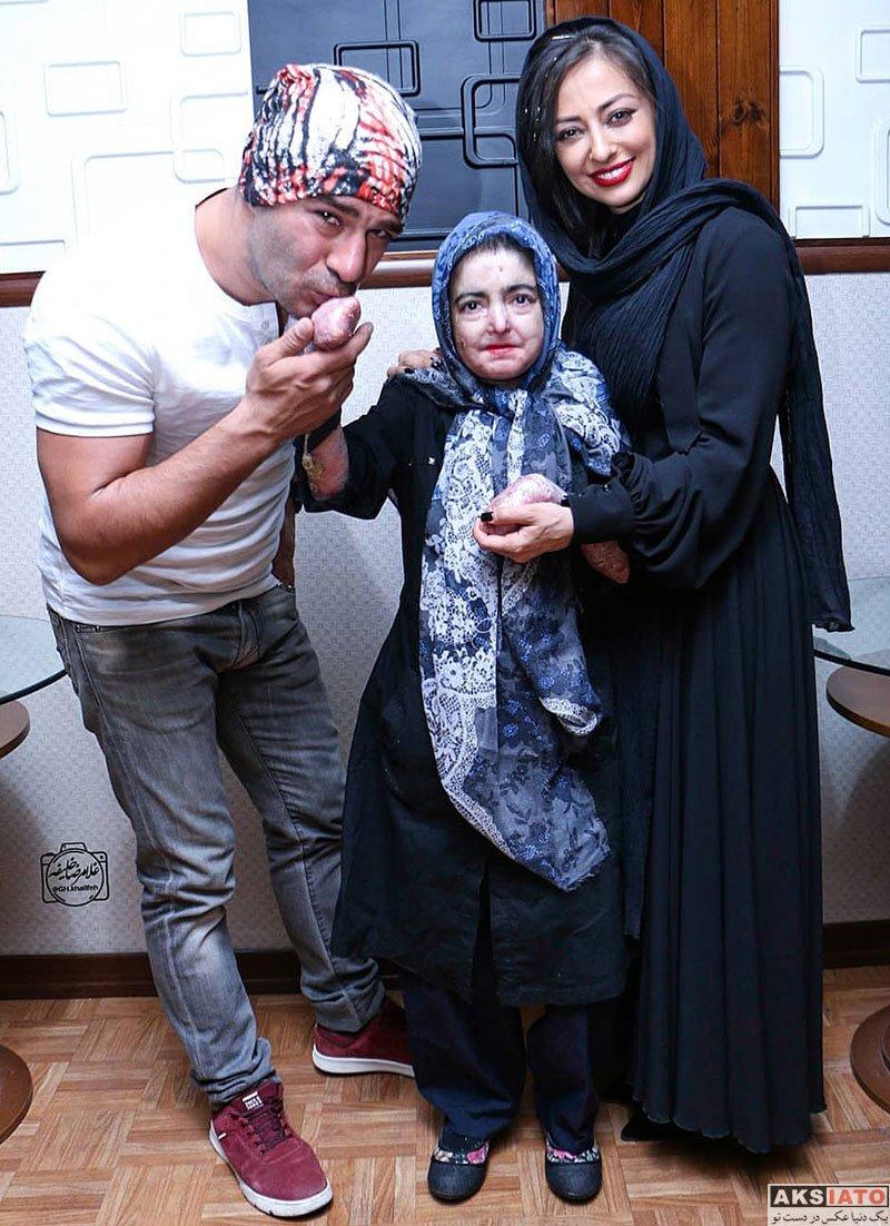 بازیگران بازیگران زن ایرانی  نفیسه روشن و یوسف تیموری در اکران مردمی فیلم لازانیا (3 عکس)
