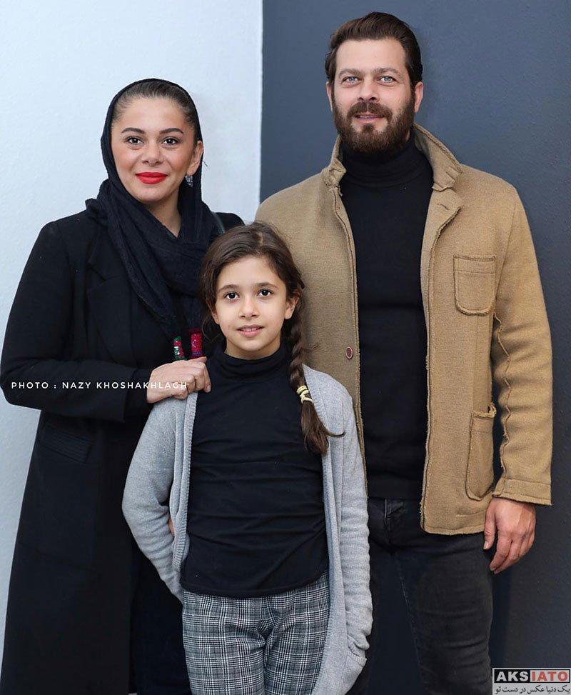 بازیگران بازیگران مرد ایرانی  پژمان بازغی و همسرش در افتتاحیه نمایشگاه فصل من کجاست (۴ عکس)