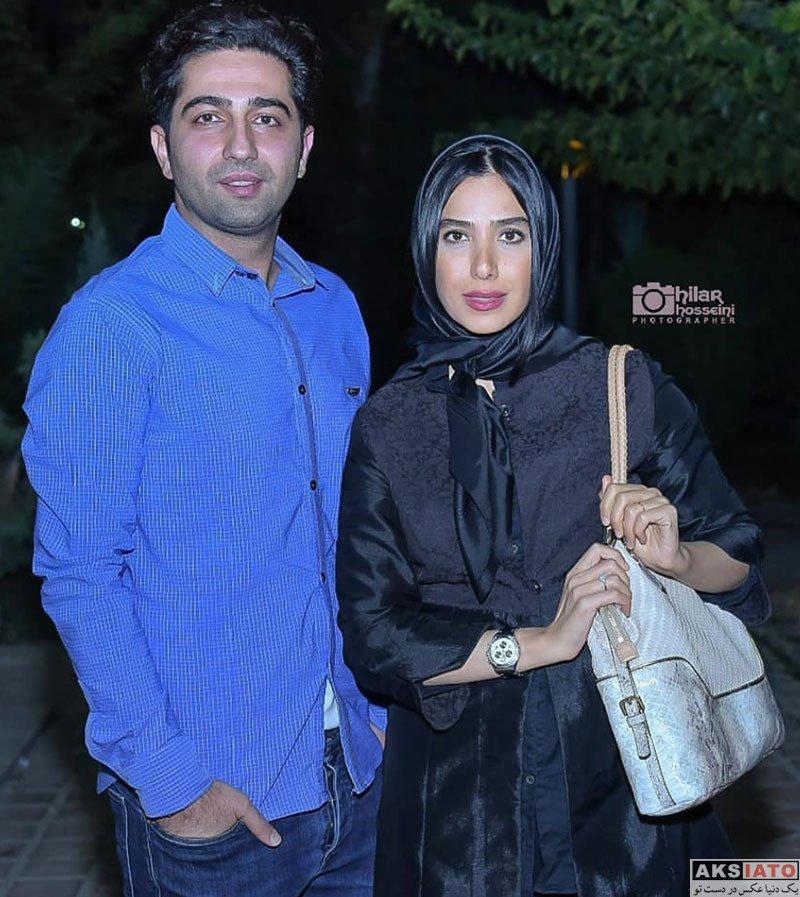 بازیگران خانوادگی  سارا نجفی و همسرش در اجرای نمایش مزا مزا (۲ عکس)