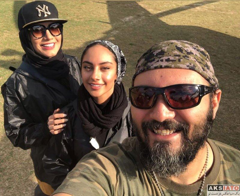 بازیگران بازیگران زن ایرانی  ترلان پروانه در پشت صحنه مجموعه رالی ایرانی 2 (4 عکس)