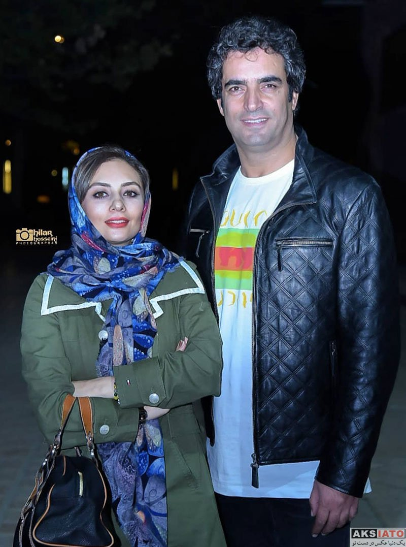 بازیگران زن ایرانی خانوادگی  یکتا ناصر و همسرش در اجرای نمایش مزا مزا (4 عکس)
