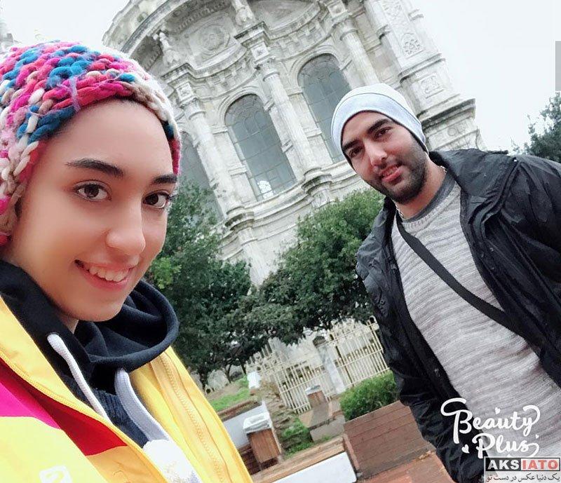 خانوادگی ورزشکاران زن  کیمیا علیزاده و همسرش در ترکیه (4 عکس)