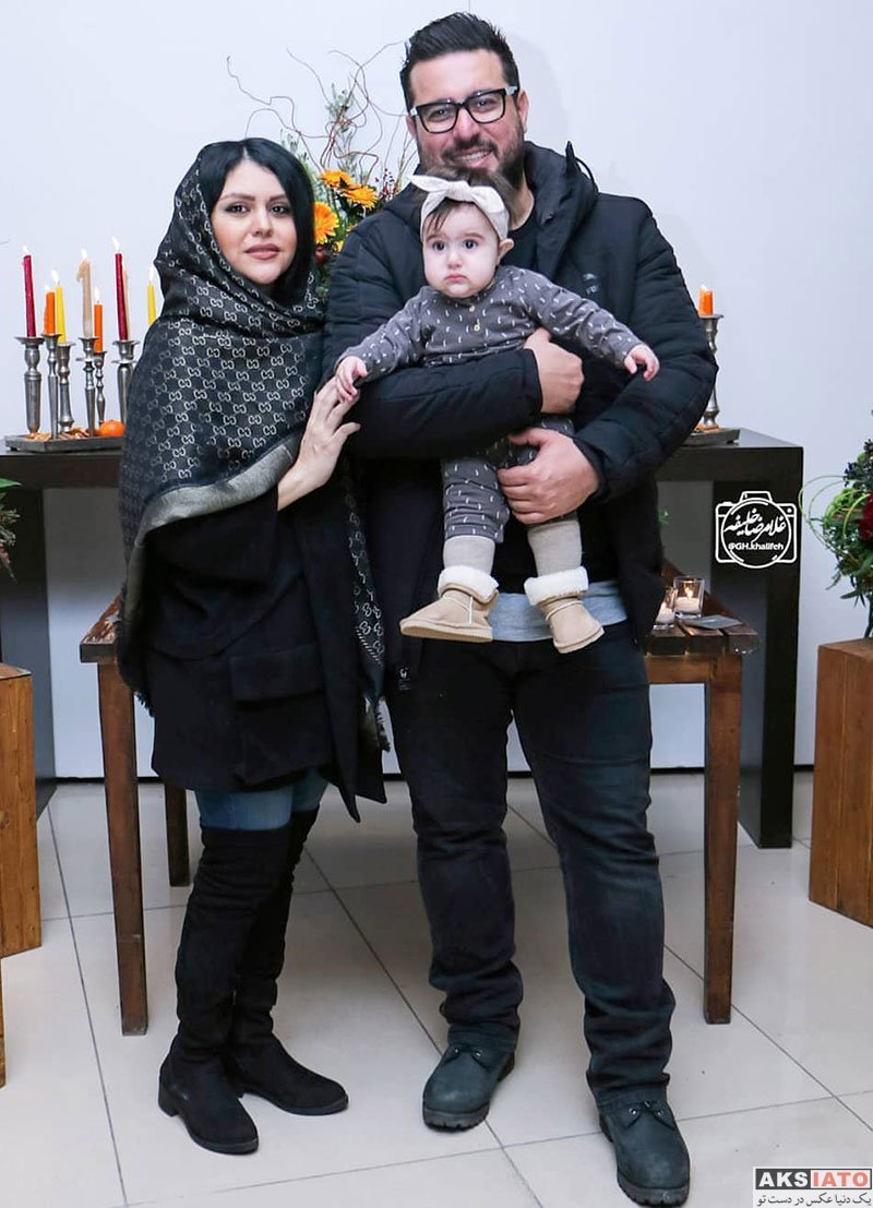 بازیگران بازیگران زن ایرانی  محسن کیایی و همسرش در اکران خصوصی فیلم آستیگمات (4 عکس)