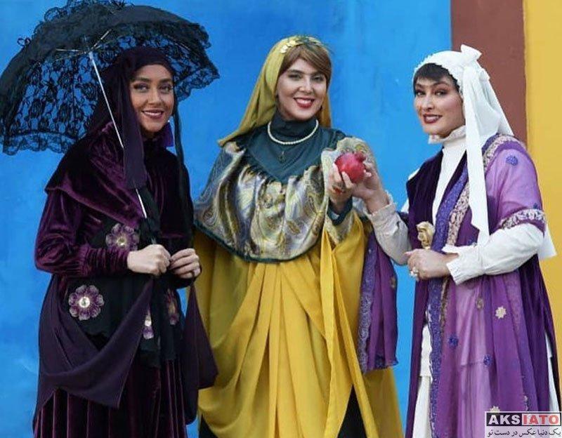 بازیگران بازیگران زن ایرانی  بهاره کیان افشار با گریم عجیب در سریال هشتگ خاله سوسکه (4 عکس)