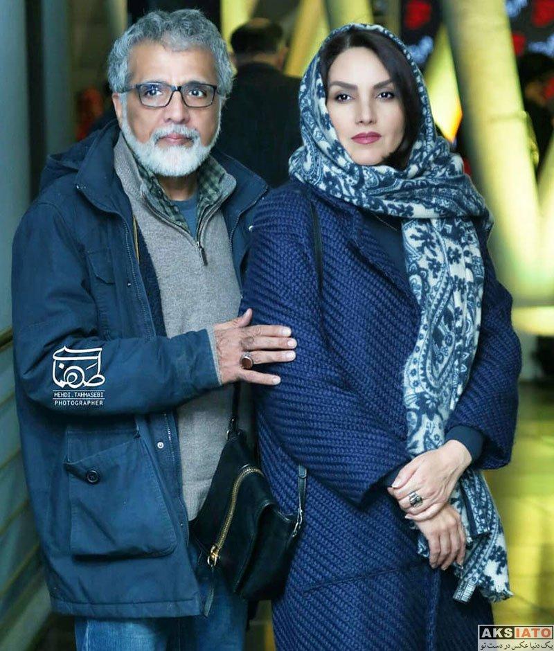 خانوادگی  مرجان شیرمحمدی و همسرش در اکران خصوصی فیلم قانون مورفی (2 عکس)
