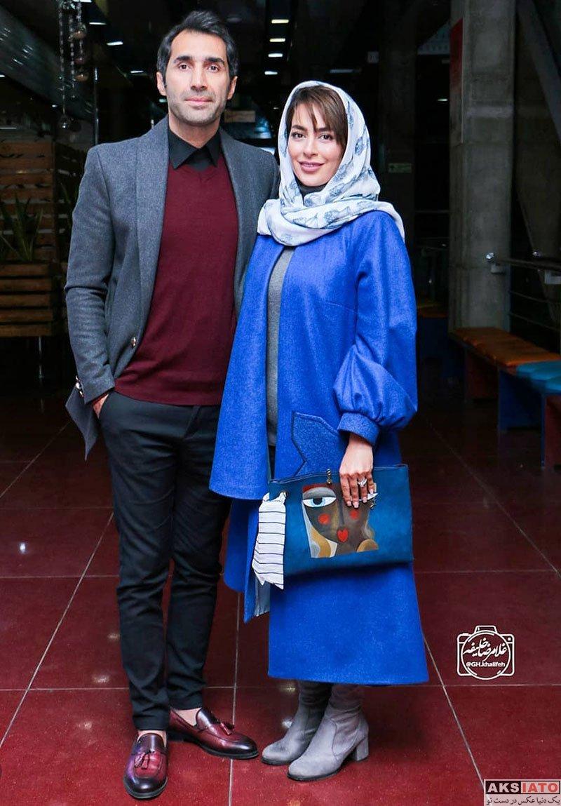 خانوادگی  سمانه پاکدل و همسرش در اکران خصوصی فیلم قانون مورفی (۳ عکس)