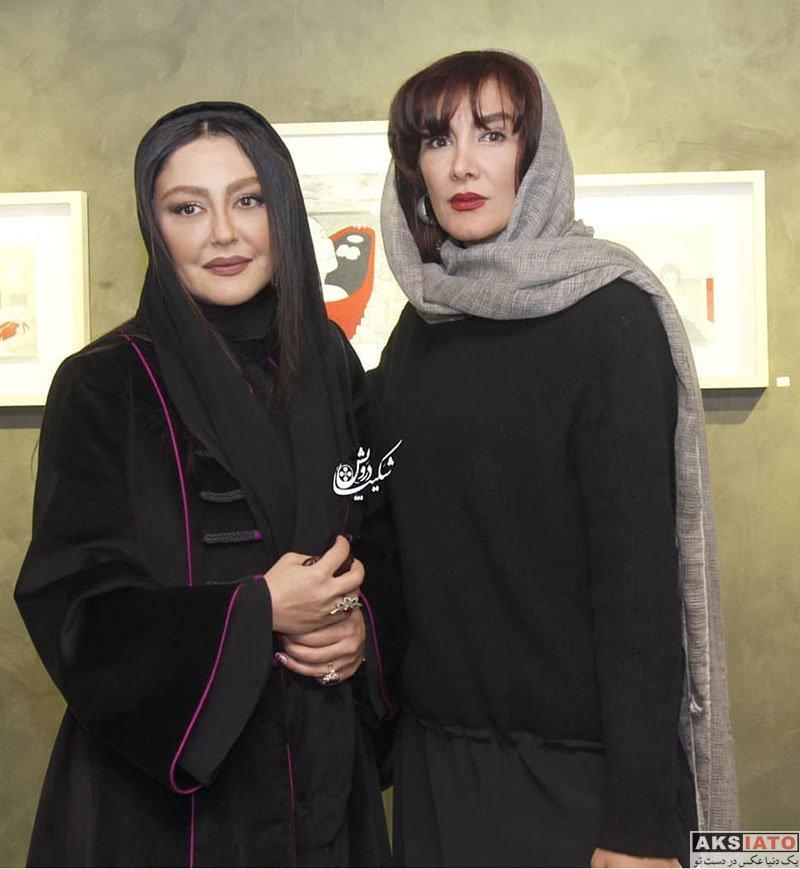 بازیگران بازیگران زن ایرانی  شقایق فراهانی در نمایشگاه آثار نقاشی و تصویرسازی (3 عکس)