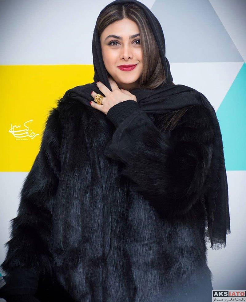 بازیگران بازیگران زن ایرانی  آزاده صمدی در مراسم رونمایی سریال نهنگ آبی (۶ عکس)