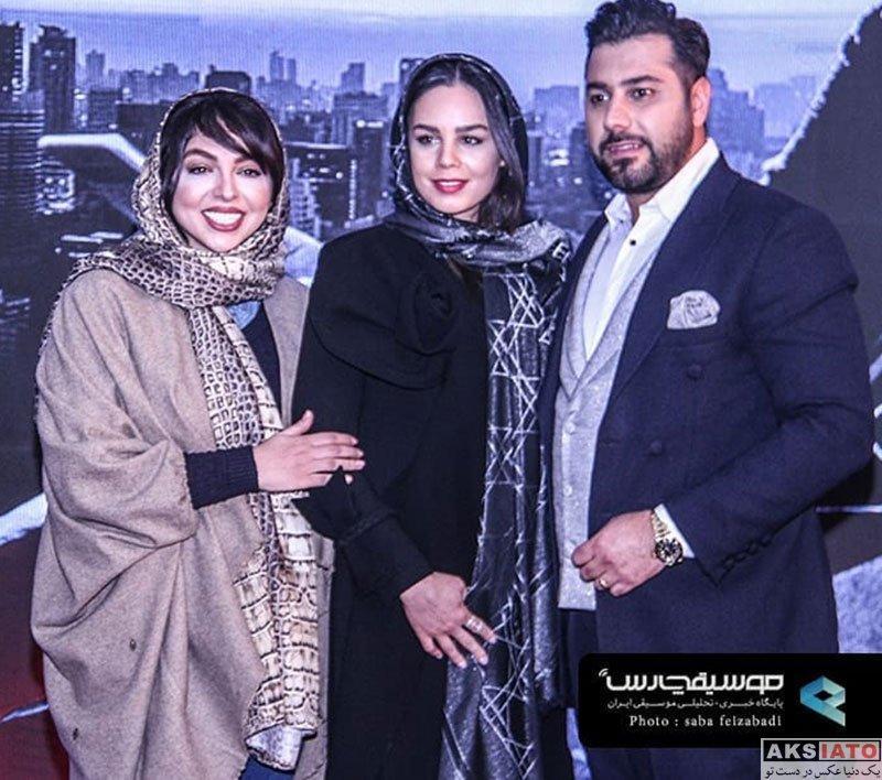 خانوادگی خوانندگان  احسان خواجه امیری و همسرش در جشن امضاء آلبوم جدیدش (4 عکس)