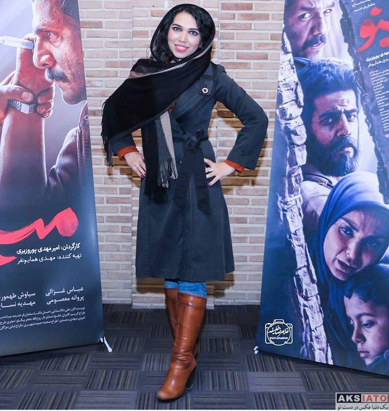 بازیگران بازیگران زن ایرانی  ملیکا عبداللهی در اکران مردمی سریال مینو (2 عکس)