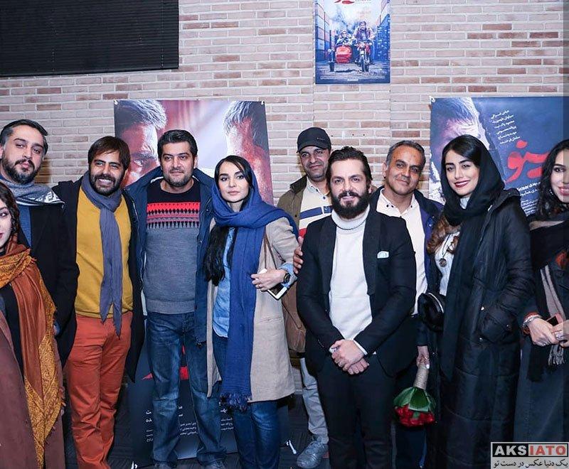 بازیگران بازیگران زن ایرانی  نازنین کیوانی در اکران مردمی سریال مینو (۲ عکس)