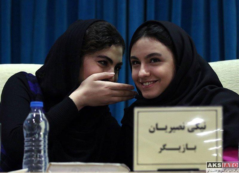 بازیگران بازیگران زن ایرانی  نیکی نصیریان در نشست خبری سریال بانوی عمارت (6 عکس)