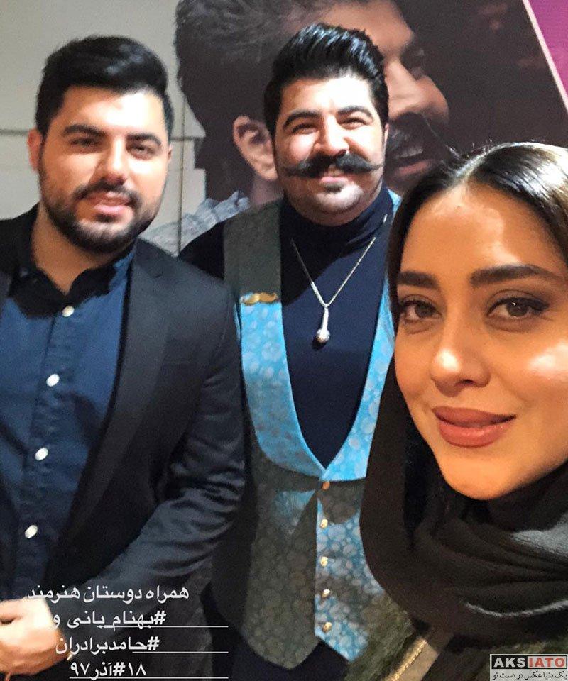 بازیگران بازیگران زن ایرانی  بهاره کیان افشار در کنسرت آذر ماه بهنام بانی (۲ عکس)