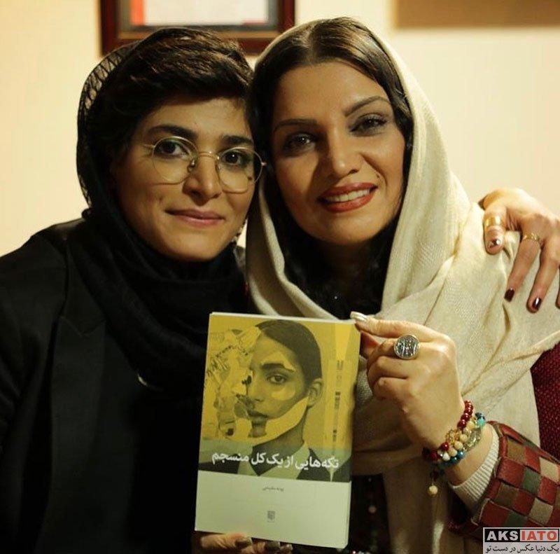 بازیگران بازیگران زن ایرانی  الهام پاوه نژاد در مراسم رونمایی کتاب تکههایی از یک کل منسجم (۳ عکس)