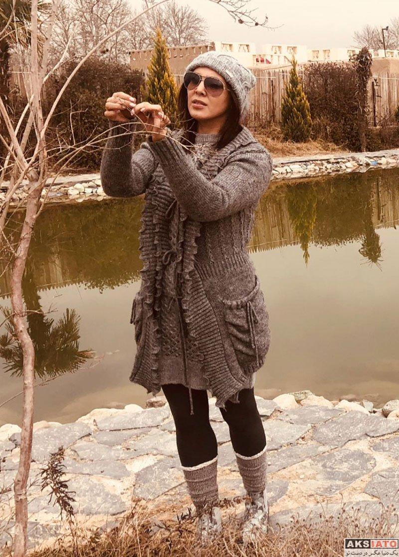 بازیگران بازیگران زن ایرانی  فتوشات های زیبای زمستانی لیلا بلوکات در دی ماه 97 (4 عکس)