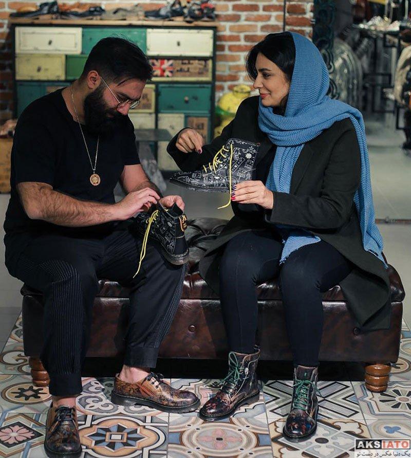 بازیگران بازیگران زن ایرانی  لیندا کیانی در فروشگاه کفش ویزلند (3 عکس)