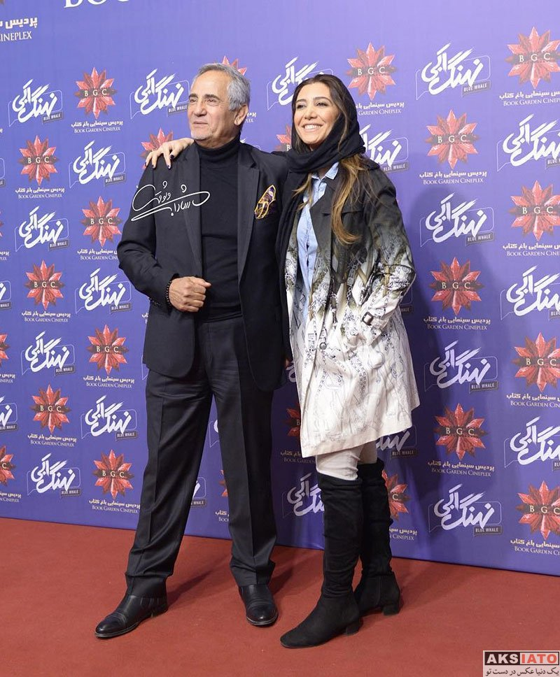 بازیگران بازیگران زن ایرانی  نیکی مظفری در مراسم رونمایی سریال نهنگ آبی (۴ عکس)