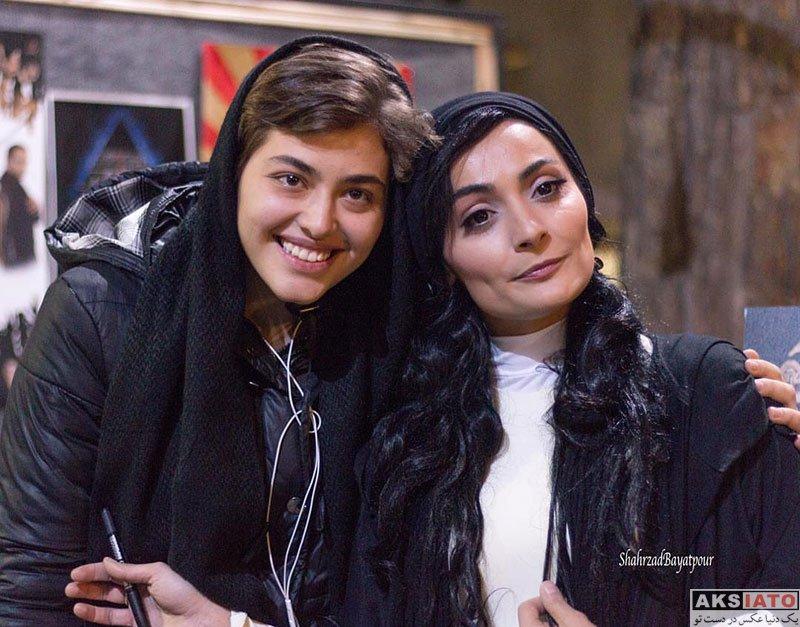 بازیگران بازیگران زن ایرانی  ریحانه پارسا در اجرای نمایش هزار و یک تو (3 عکس)