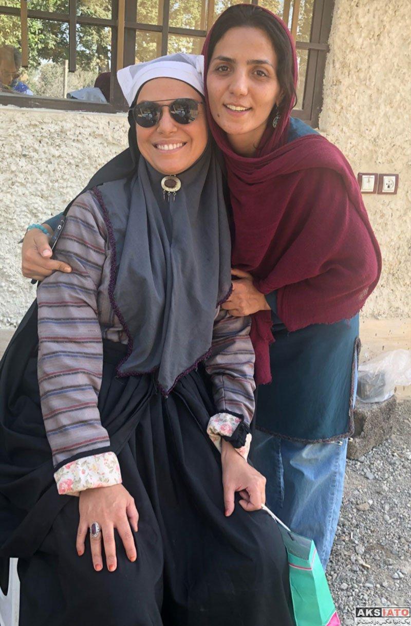 بازیگران بازیگران زن ایرانی  شبنم فرشادجو در پشت صحنه سریال بانوی عمارت (6 عکس)